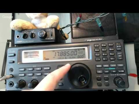 Tuning the Shortwave bands live April 15th 2016 at 2000 UTC