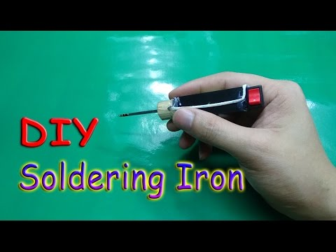 How To Make A MINI Battery Powered Soldering Iron Tool