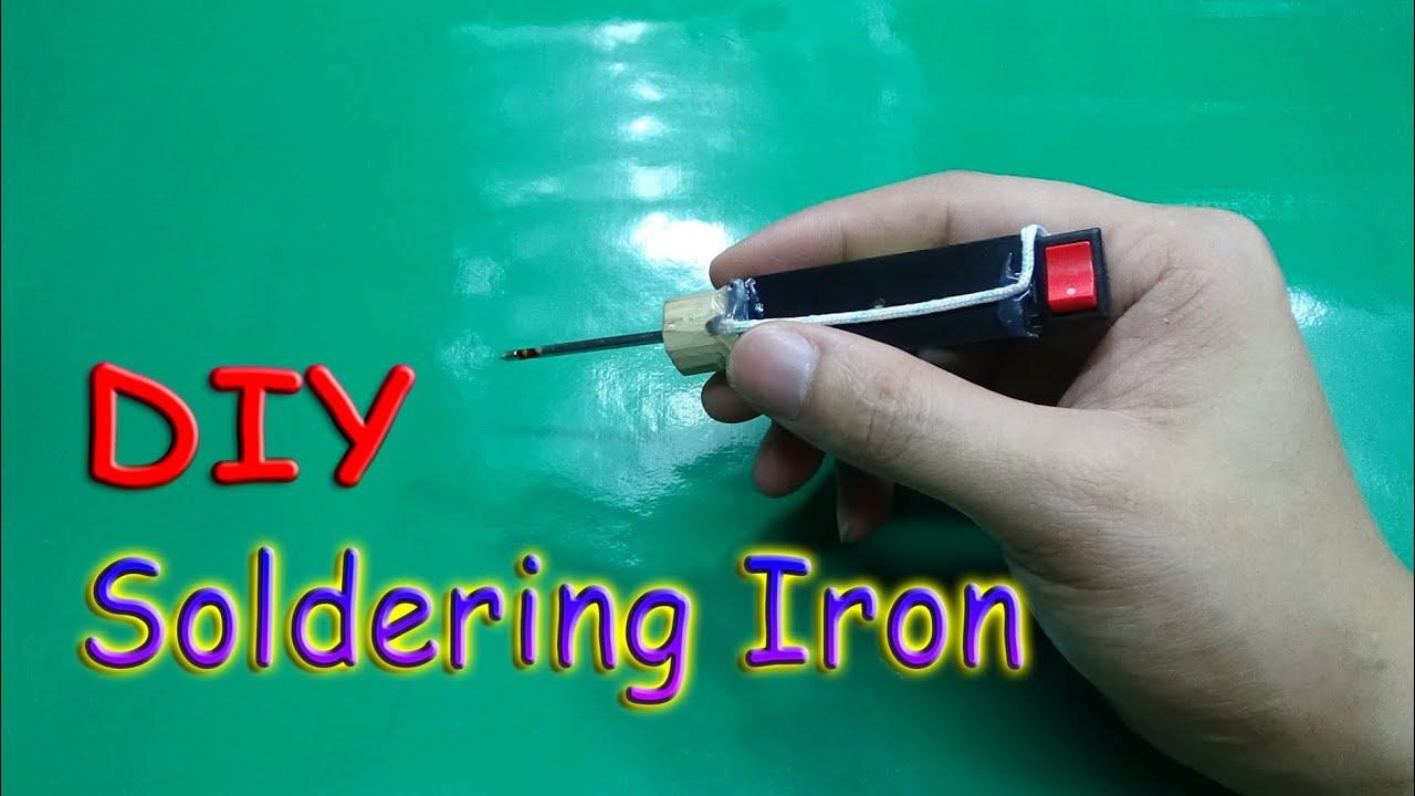 How to make a mini battery powered soldering iron tool youtube solutioingenieria Images