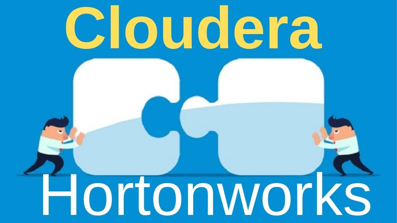 Hadoop giants Cloudera Hortonworks Merger