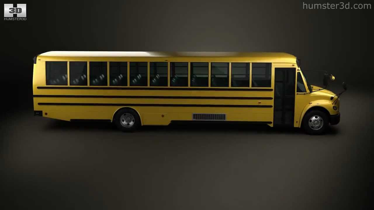 Thomas Built Buses >> Thomas Saf-T-Liner C2 School Bus 2012 by 3D model store Humster3D.com - YouTube
