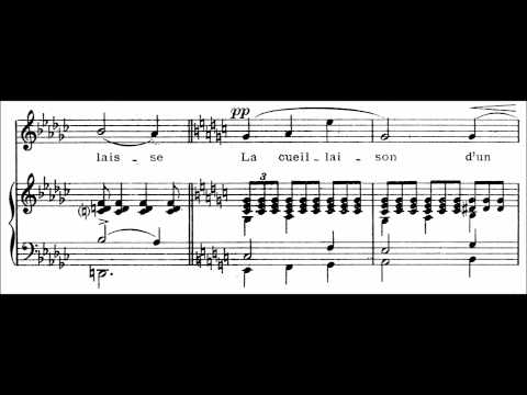 "Claude Debussy - ""Apparition"" for voice and piano (audio + sheet music)"