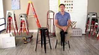 Black Round Metal Bar Stools - 2 Piece - Product Review Video
