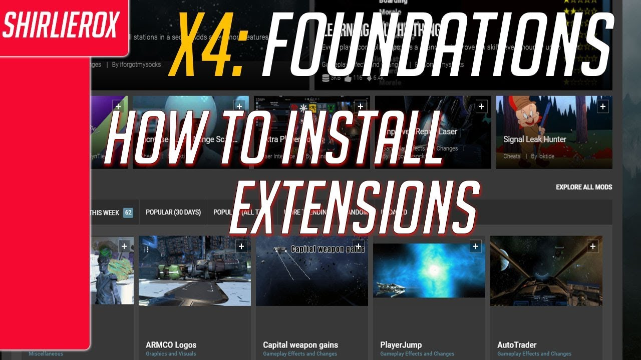 X4 foundations how to install extensions - New ship logos - X4 Foundations  mod installation