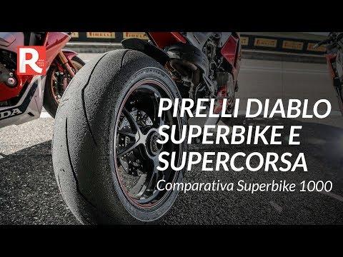 Speciale Gomme Pirelli Diablo Supercorsa e Superbike alla comparativa Supersportive 2018 ad Alcarras