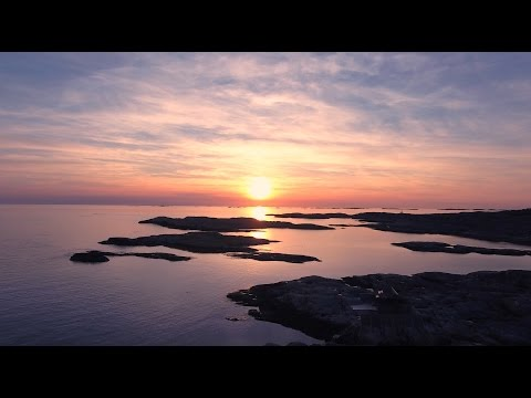 Drone photage over Sweden, Marstrand (High quality 4K)