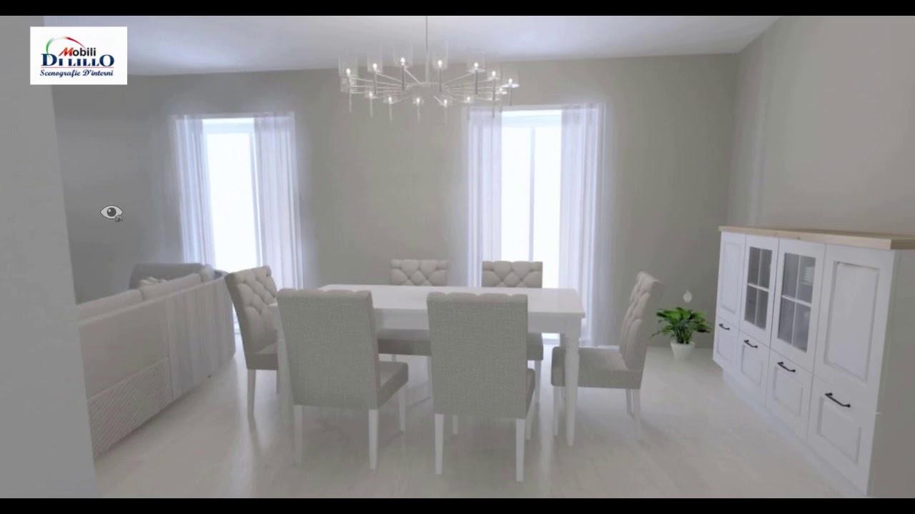 Sala Da Pranzo Country Chic cucina in stile country-chic con living e sala da pranzo