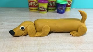 How to make a Wiener Dog with Play-Doh.... Granny B. and Play-Doh..
