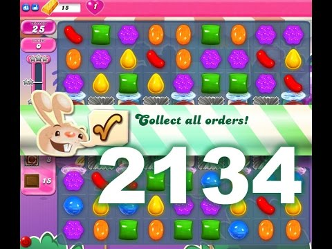 Candy Crush Saga Level 2134 (3 Stars, No boosters)
