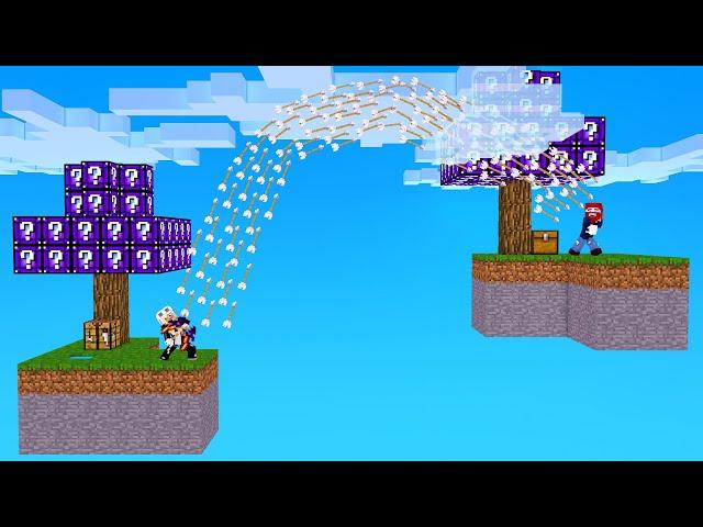 ELINAS WAFFE IST UNFAIR... in Minecraft Lucky Block Skyblock!