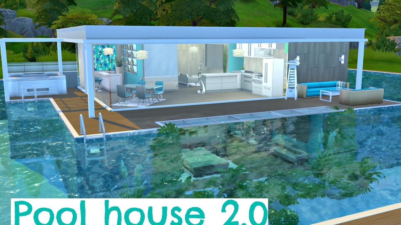 The Sims 4 Sd Build Pool House 2 0