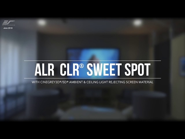 Elite Screens Ceiling and Ambient Light Rejecting (CLR/ALR) Projection Screen Setup Guide