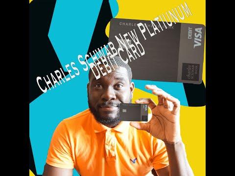 UPGRADED METAL Looking  Charles Schwab NEW PLATINUM VISA DEBIT CARD