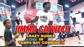 Jimma gatwech put on a show dunking at the tampa bay pro combine. he will be competing with other professionals in front of nba and scouts combin...