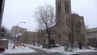 Montreal in Snow Pictures - Winter Feb 2016 - St Catherine , McGill College & Sherbroke Street