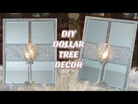 DOLLAR TREE DIY MIRROR DECOR | DIY QUICK, EASY & INEXPENSIVE GLAM HOME DECOR 2019