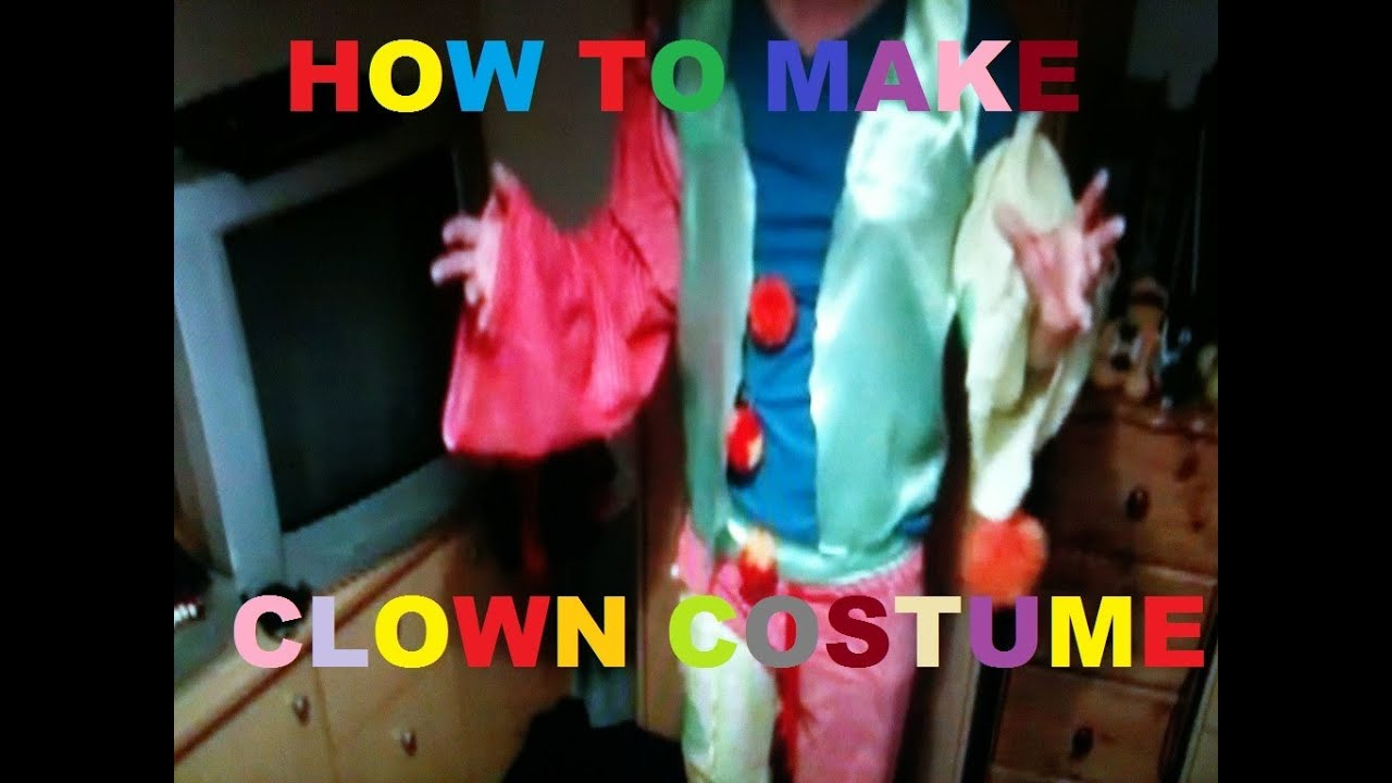 How to make a cheap and easy clown costume & How to make a cheap and easy clown costume - YouTube