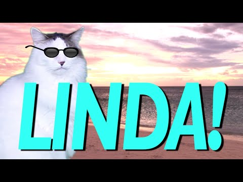 HAPPY BIRTHDAY LINDA! - EPIC CAT Happy Birthday Song