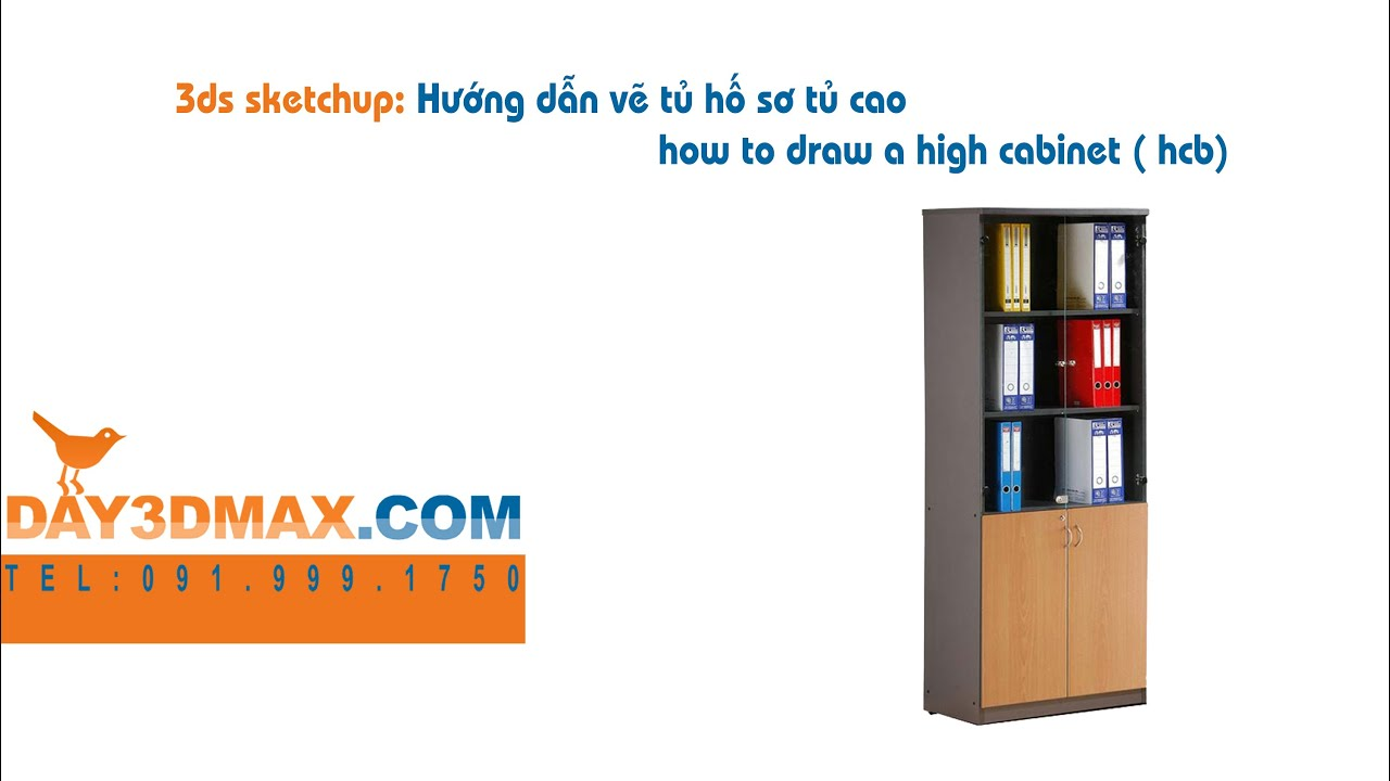Học 3d sketchup 38  Hướng dẫn vẽ tủ cao cabinet learning study 3d draw a high cabinet ( hcb)