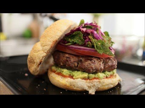 Thai Burger Recipe (Laab Burger) - Hot Thai Kitchen!