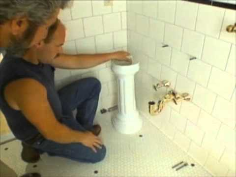 How To Install A Pedestal Sink Bob Vila Youtube
