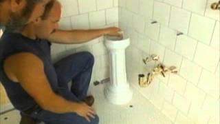 How To: Install a Pedestal Sink - Bob Vila
