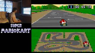"Super Mario Kart - Mario Circuit 4 - 1'55""43 by meauxdal (22""67 flap)"