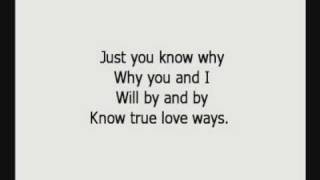 Buddy Holly - True Love Ways with lyrics