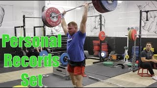 Many PR's Set on Friday! Some Heavy Lifts From Our Max Out Friday on 4/20