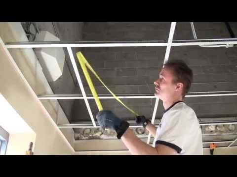 how to install a suspended ceiling grid installation basic