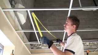 How To Install A Suspended Ceiling (Grid installation- Basic)