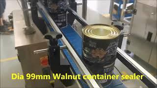 직경 99mm 호두 컨테이너 실러, 자동 금속 용기 씰…