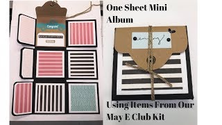 Mini Album From one 12x12 Sheet Using Items From Our May E Club Kit