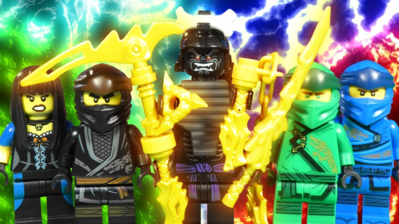 Lego Ninjago Legacy Part 2 Battle For The Golden Weapons Youtube