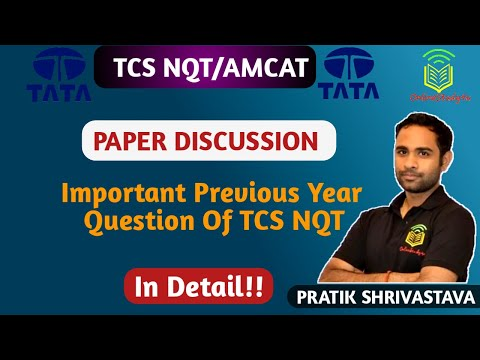 TCS NQT Previous Year Paper Discussion ! Easy Trick to Solve