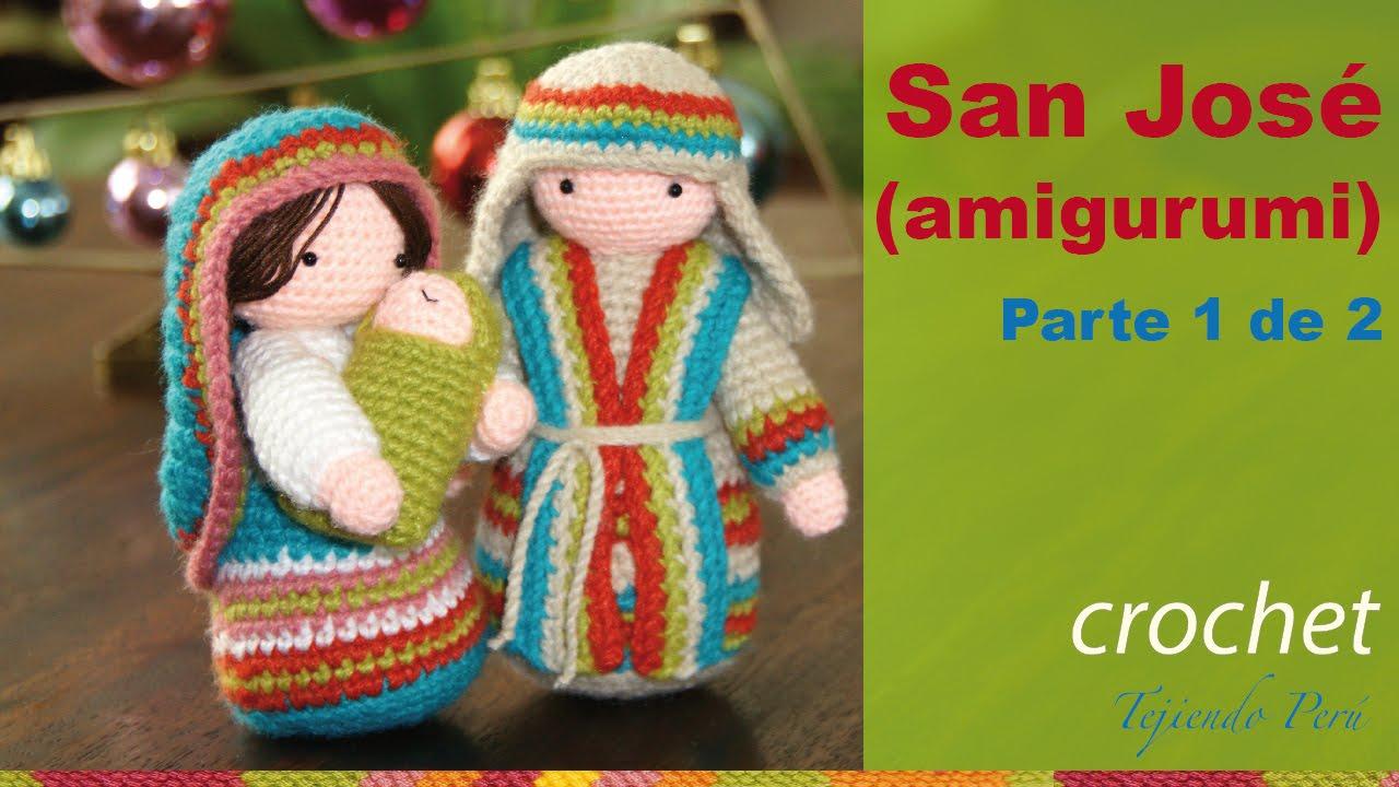 Amigurumi Navidad Nacimiento : San josé tejido a crochet amigurumi parte de youtube