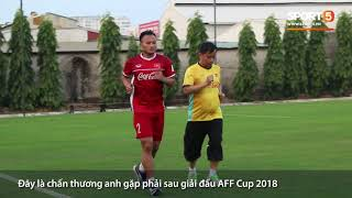 Nguyễn Trọng Hoàng tổn thương dây chằng đầu gối, phải tập riêng và bỏ ngỏ tham dự Asian Cup 2019