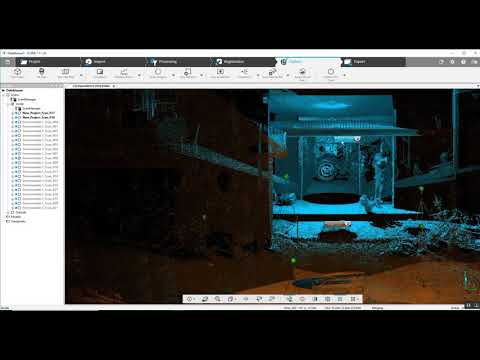 FARO SCENE Scanning Positions Through a Home Interior