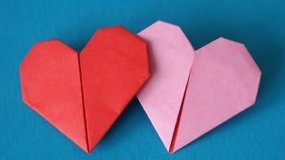 Сердечко оригами закладка для книг Подарки ко дню Святого Валентина своими руками Поделки с детьми