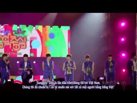 [Vietsub] 121129 Infinite nói tiếng Việt @ KPOP Festival 2012 (Music Core Special in Vietnam)