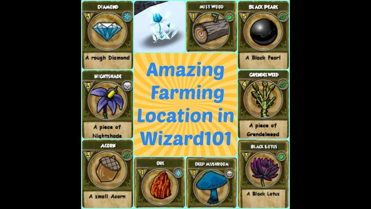 Farming Black Pearl Grendelweed Diamond Acorn Nighshade In