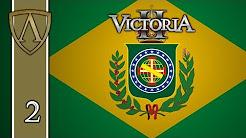 Victoria II Tutorial -- Empire of Brazil -- Part 2: Politics, Population, Trade, Diplomacy, Military