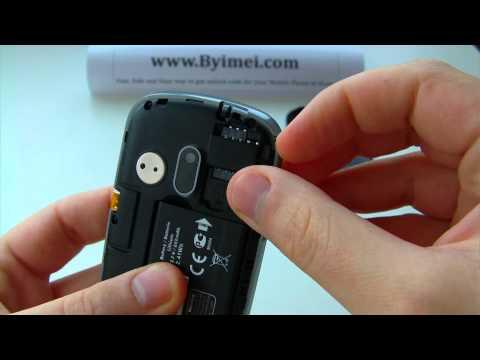 Alcatel OT-355 Unlock & input / enter code.AVI