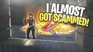 he NEARLY edited me off... 😆 (Scammer Gets Scammed) In Fortnite Save The World