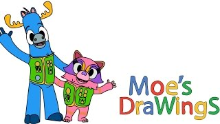 Mack & Moxy How to draw and coloring fun new Hd video for kids