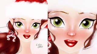 Christmas Angel Elf Digital Speed Painting PROCREATE App 2020 | Lillee Jean