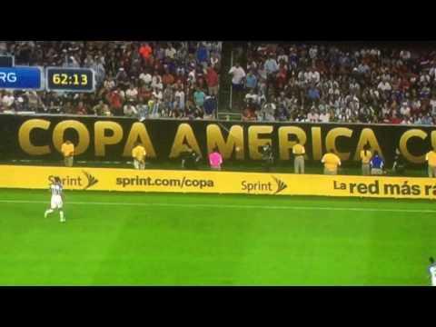 Lavezzi Falls Over Wall and Gets Hurt vs USA