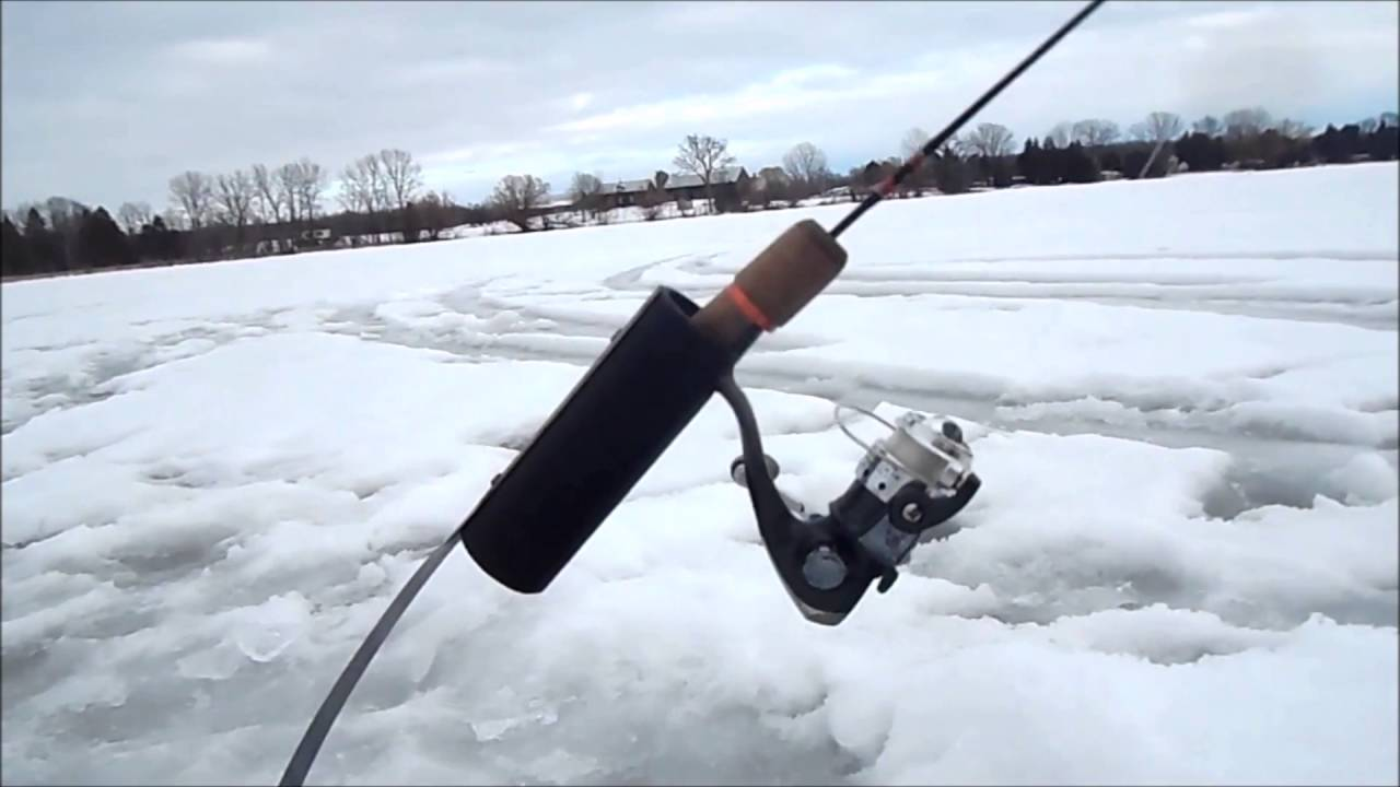 How to make a winter fishing rod