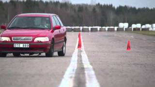 SLALOM simulation compared to actual driving on VOLVO V40
