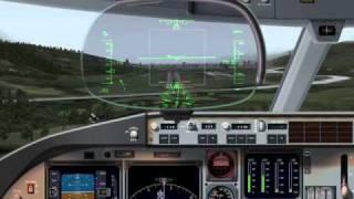 X-Plane 9 Innbruck landing in BA 777-200 !